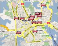 Interactive Helsinki Map